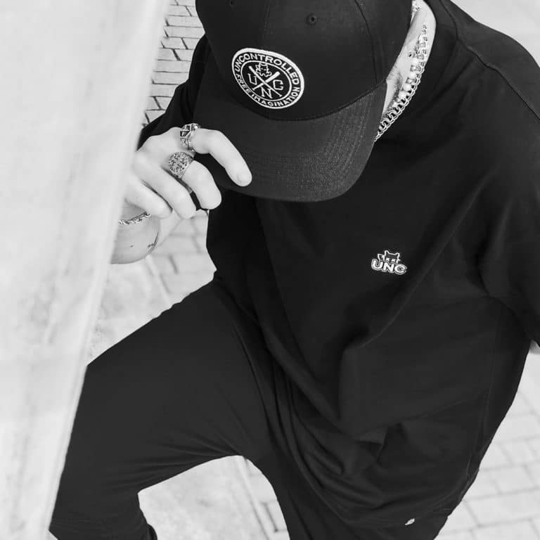 t-shirt oversize unc basic black et snapbat