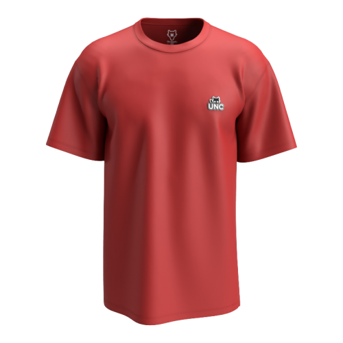 coupe oversize T-shirt basic red uncontrolled